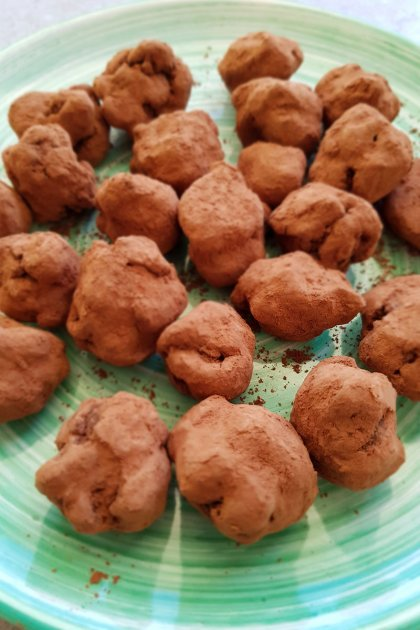 טראפלס שוקולד בסדנת בישול בריא עונתי